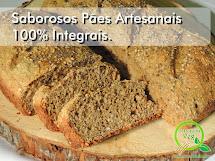 Linha de Pães Artesanais 100% Integrais do Gostosuras Veg: