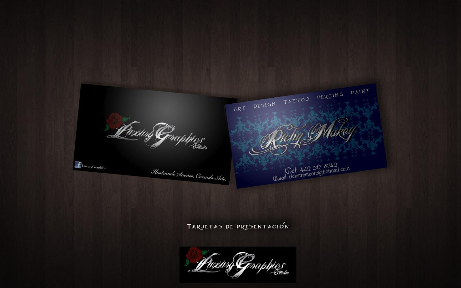 Luxury graphics estudio dise o tarjetas de for Disenos para tarjetas