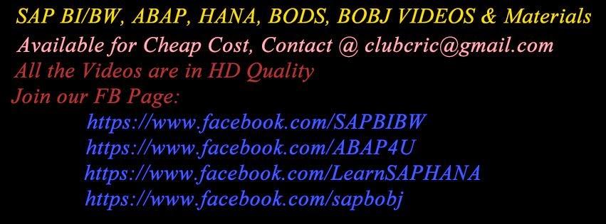 ABAP Training Videos