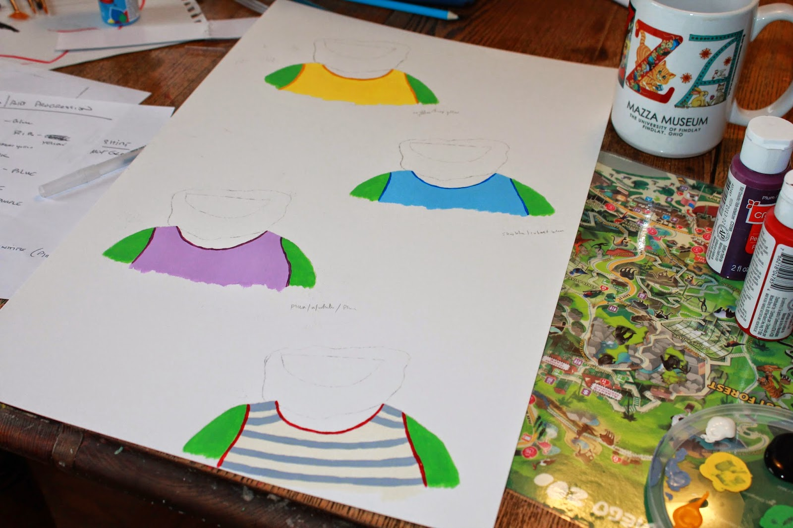 Baby Beards! painting illustations via www.ericvr.com