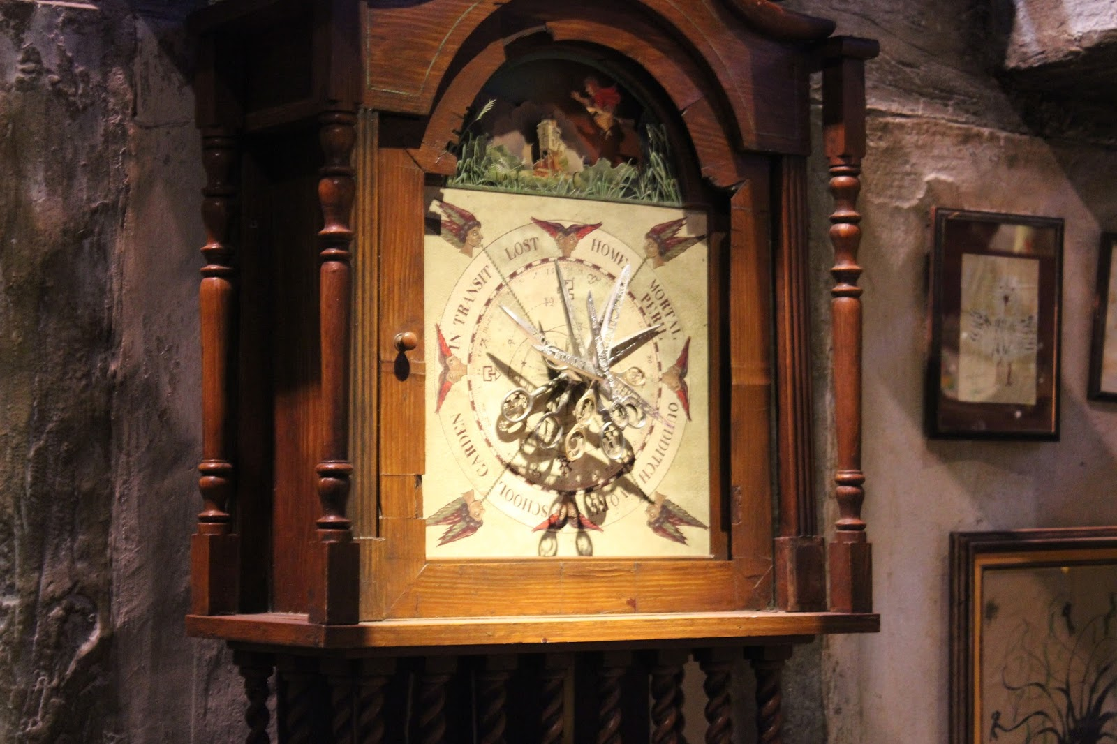 Harry Potter studio tour london weasley clock