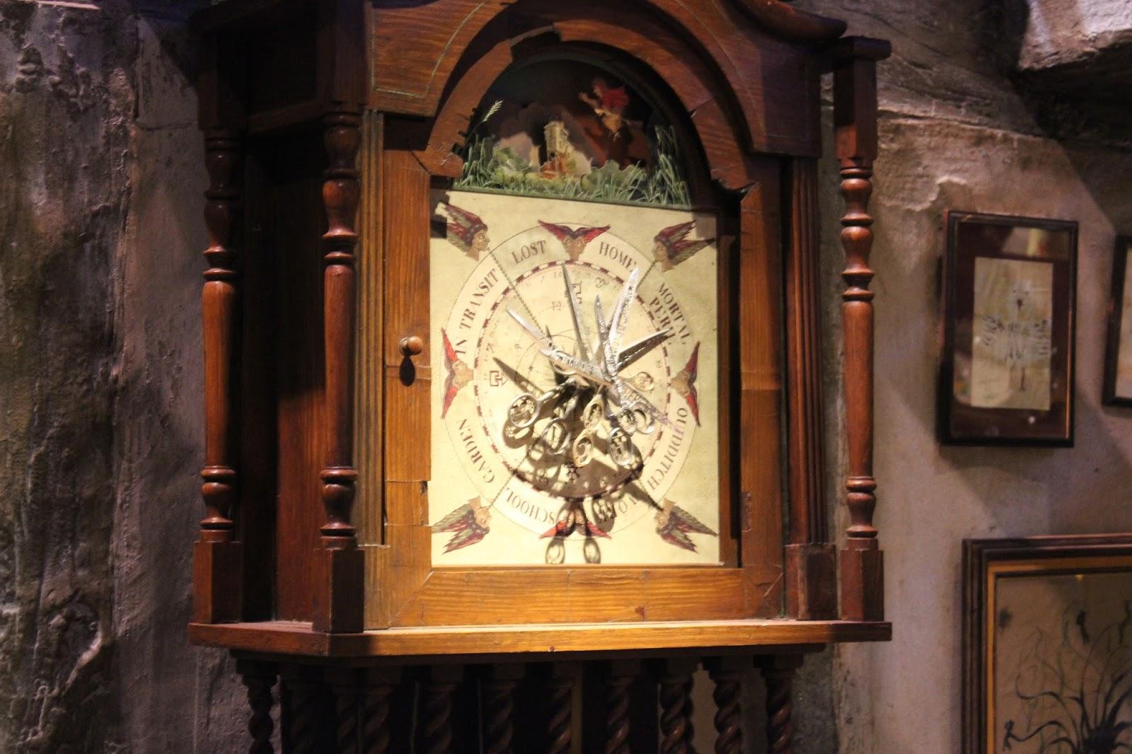 Harry Potter studio tour london weasley clock