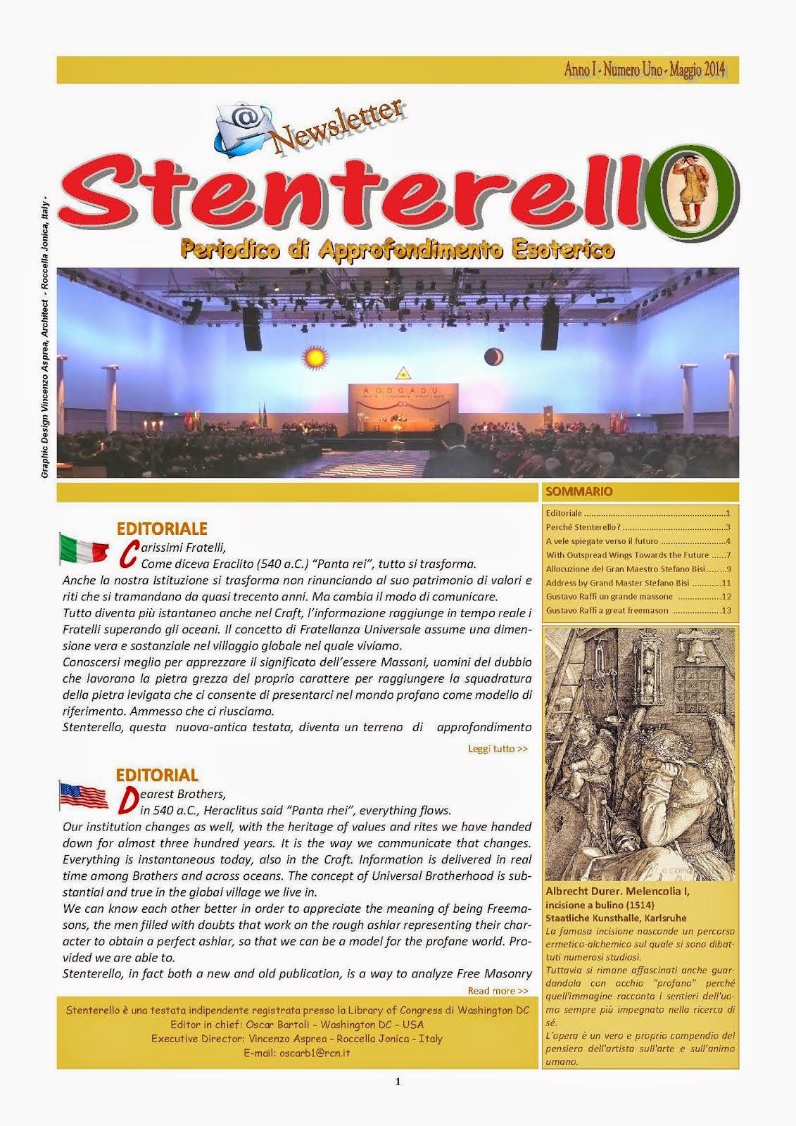 Stenterello Anno I - Maggio 2014