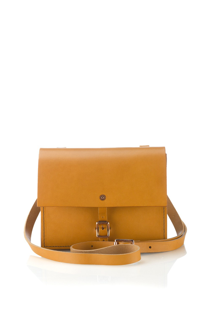 Alfie Douglas Alfie tan leather shoulder bag