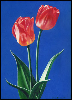 Tulip Flower original artwork