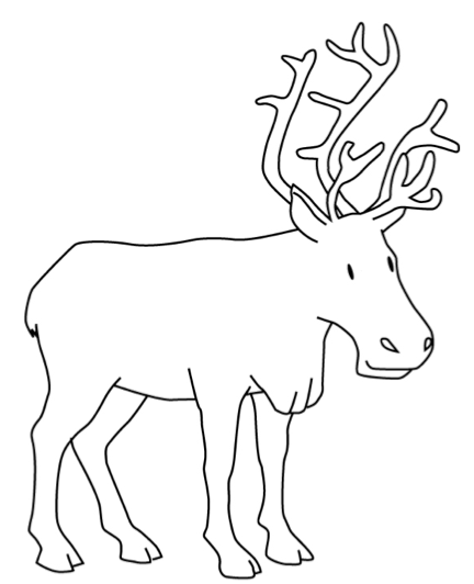 Line Drawing Reindeer : Reindeer line drawings images