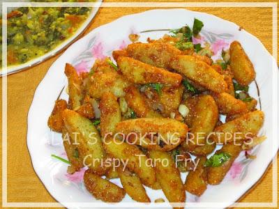 Hot and Crispy Taro Fry (II) | Sepang Kizhangu Varuval | சேப்பங் கிழங்கு வறுவல்