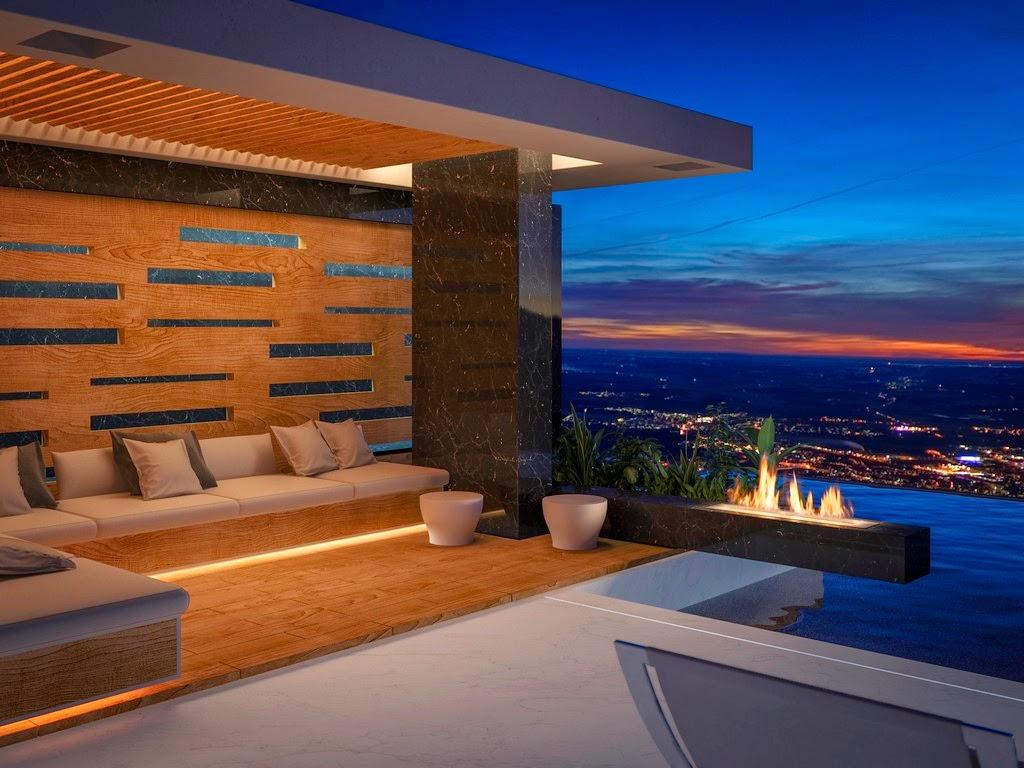 Bioethanol kamin terrasse
