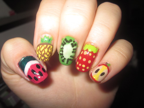latest nail art fruits fashionate