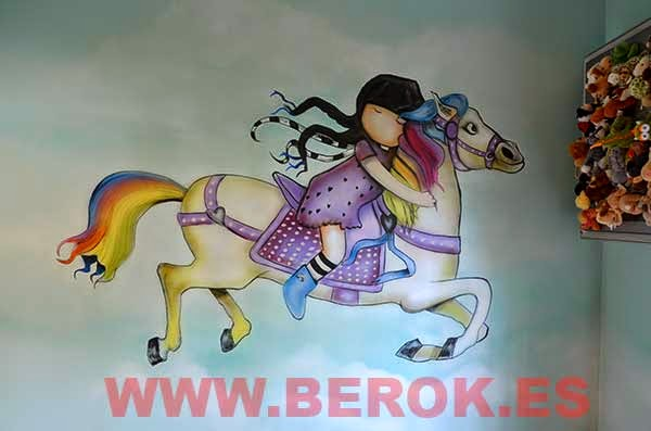 Murales infantiles para niña