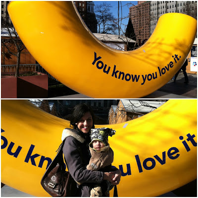 love park, mac and cheese sculpture