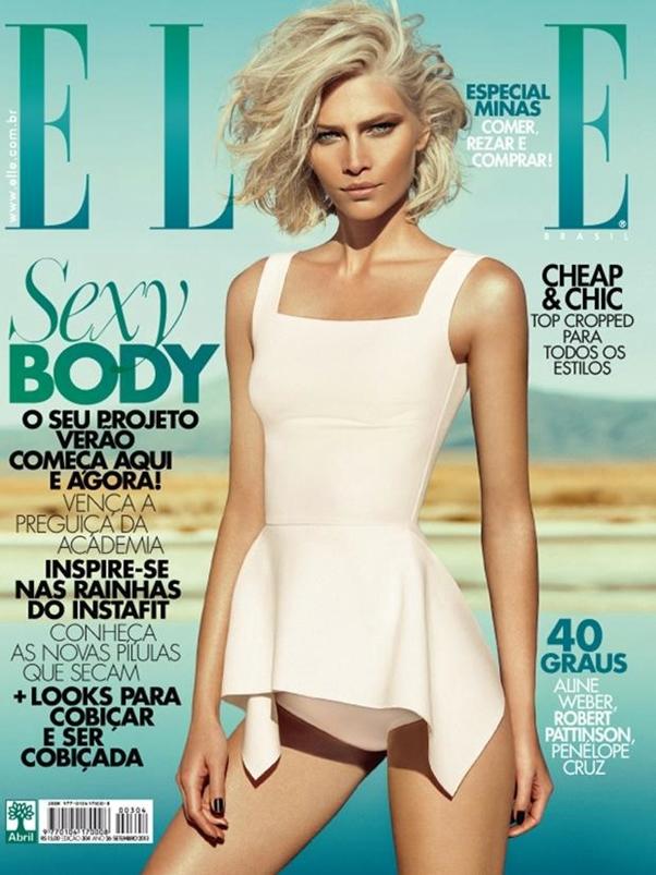 Revista Elle Setembro 2013 Lenço Reinaldo Lourenço Brasil