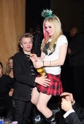 Avril Lavigne with Husband