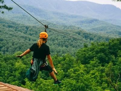 Zipline at ClimbWorks Canopy