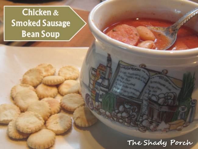 Chicken &  Smoked Sausage Bean Soup recipe slow cooker beans