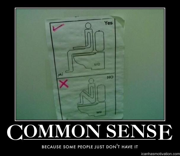 common sense. Common Sense