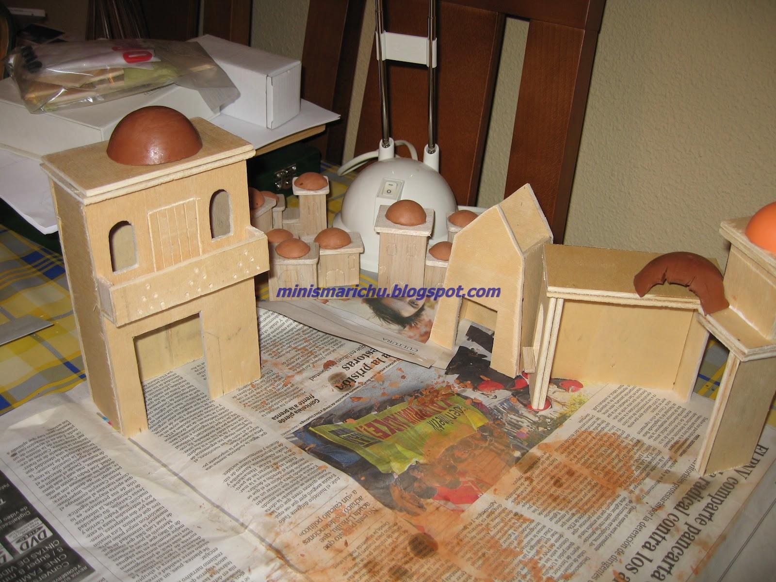 Las minis de marichu casitas y molino belen - Casitas para pesebre de carton ...