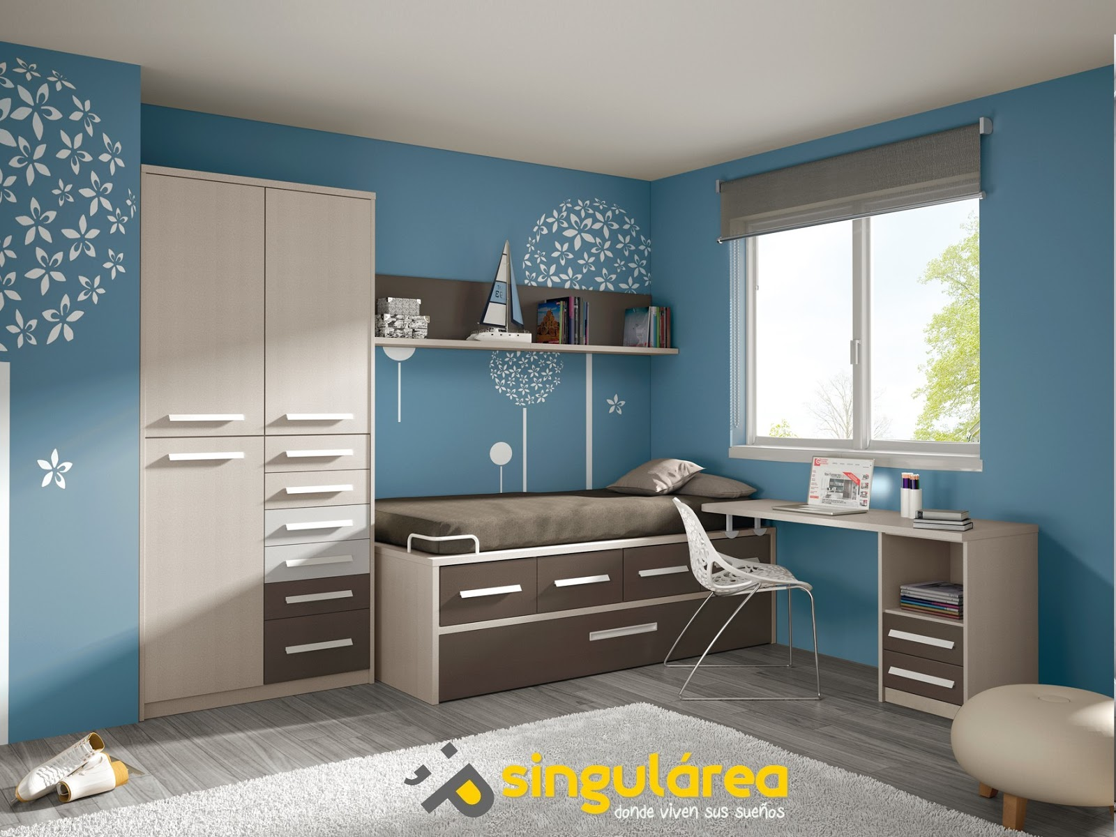 Dormitorio juvenil sin armario 885 - Dormitorios infantiles valencia ...