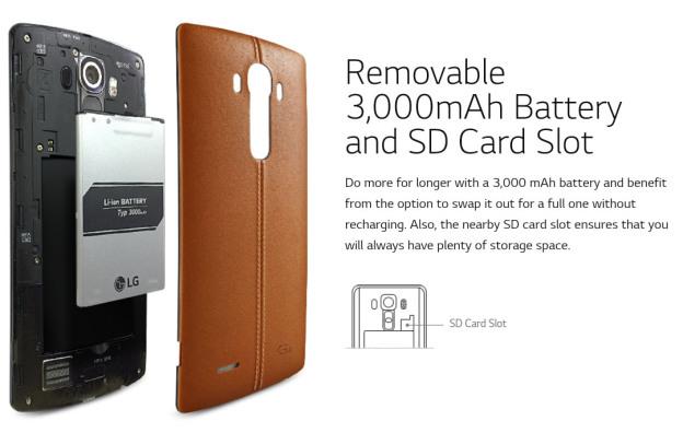 Kapasitas Baterai LG G4