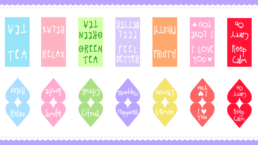 Free Heart Tea Bag Tags Printable