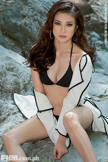 LJ Reyes in black bikini for FHM