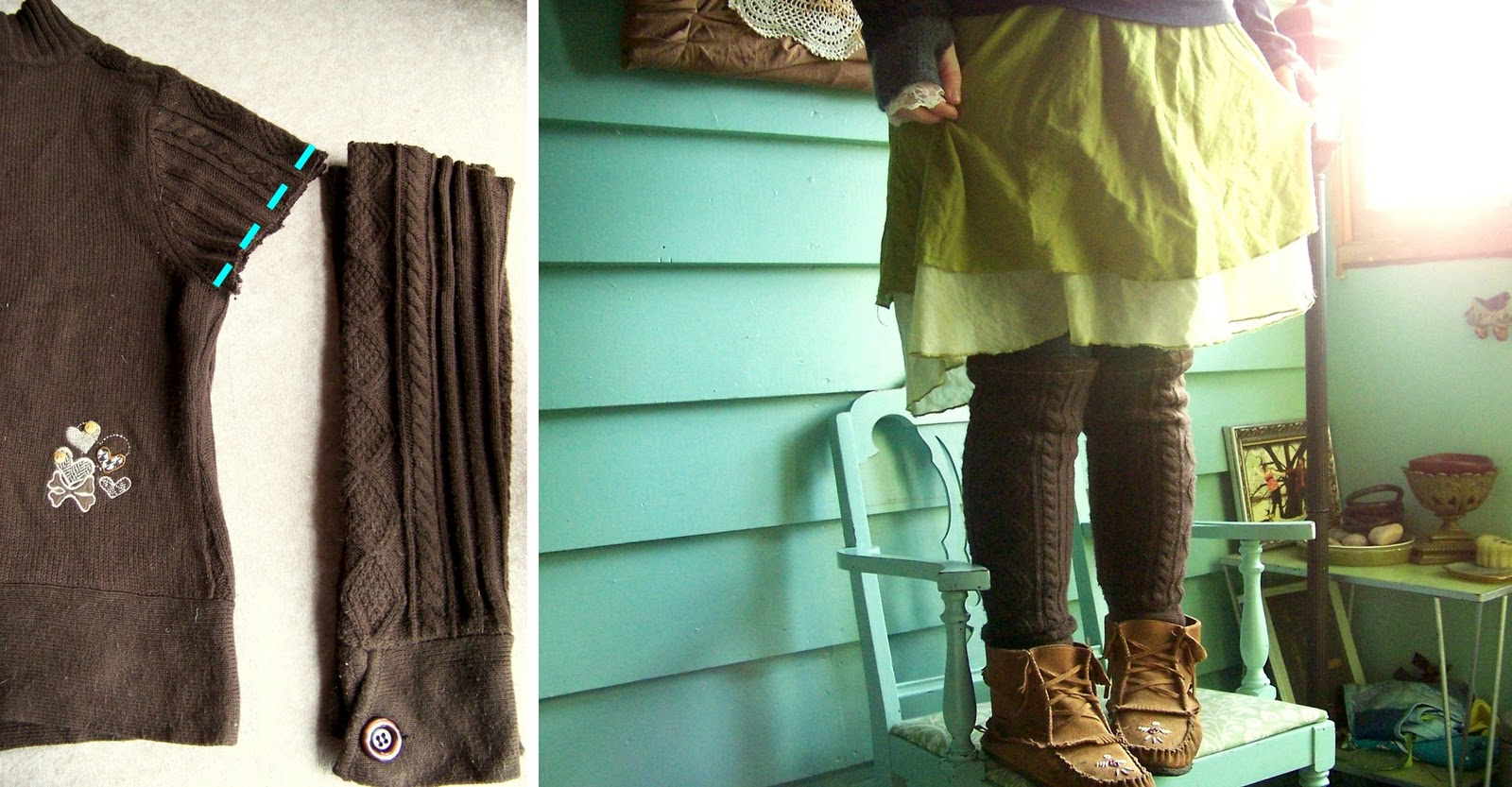 ... one old sweater and upcycle it into four cozy comfort accessories... in  my super fast.stupid easy. approach to do.it.yourself projects around this  nest! 97508095f