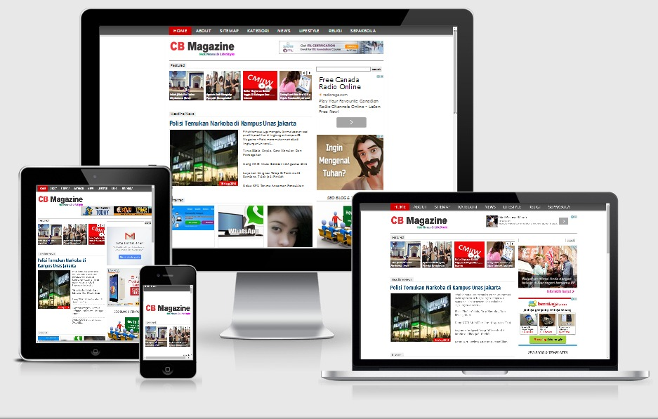 10+ Template Blog SEO Friendly Responsive Terbaik - Magazine News ...