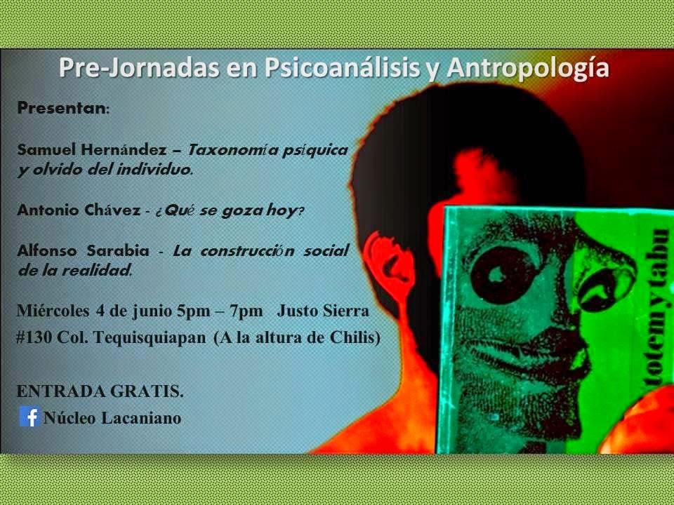 Pre jornada Psicoanálisis y Antropologia