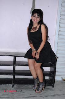 Madhulagna Das Picture Gallery in Black Mini Dress  0003