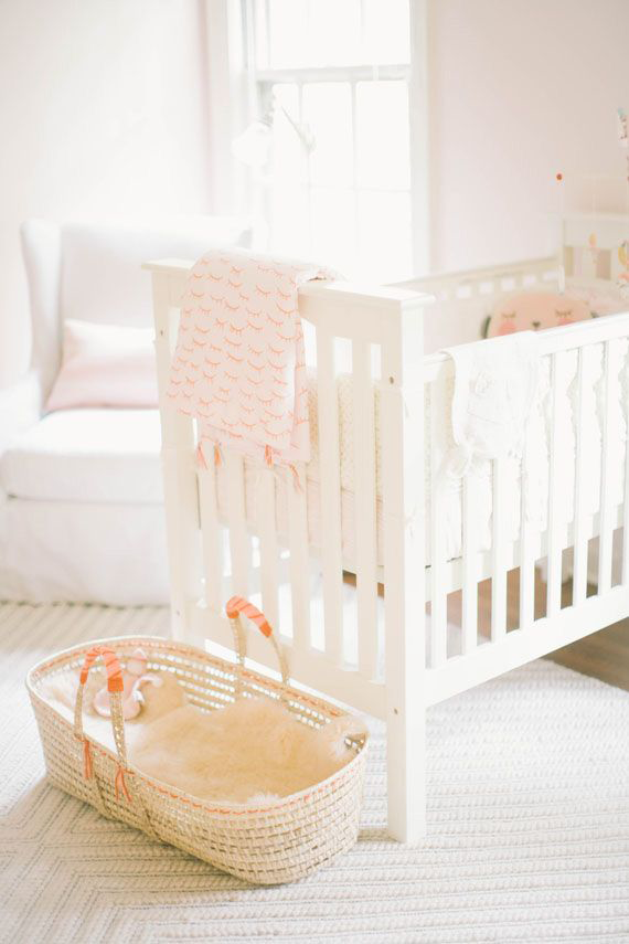 Unusual Crib Placement in Baby Nursery