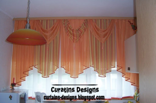 modern orange curtain valance for girls bedroom windows