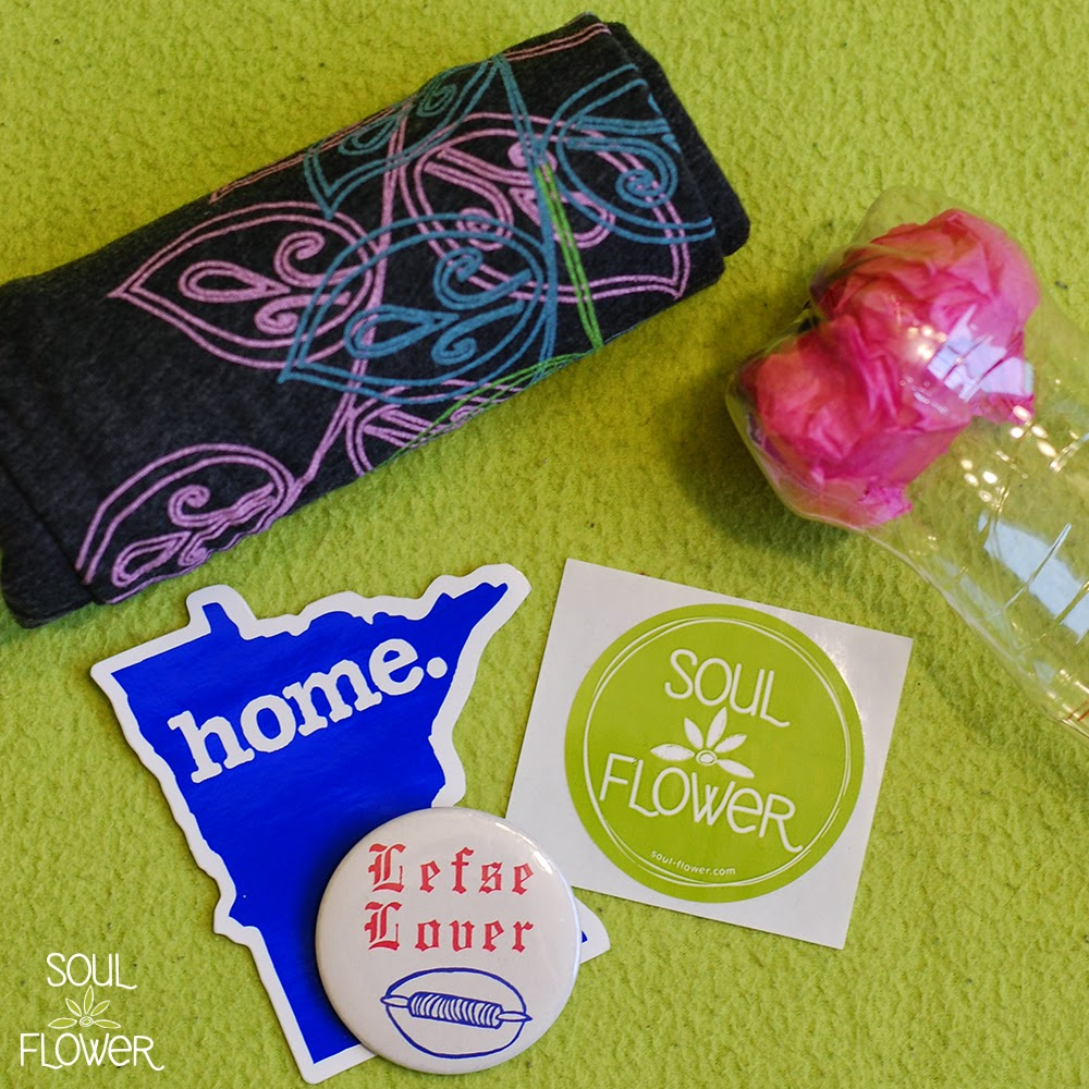 13 bottle mailer goodies - 13 Oz or Less - A Recycled Bottle Mailer DIY