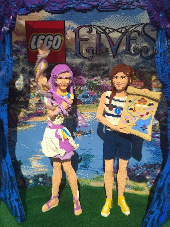 Brick sculpture of Aira and Emily