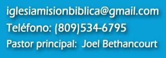 información contacto iglesia