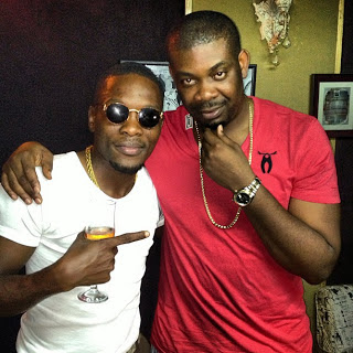 Donjazzy and Sean tizzle spotted at D'tunes studio