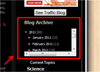 How to Make blogspot archive with Scroll