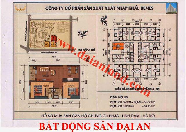 Căn hộ số 40 - Chung Cư HH4A Linh Đàm