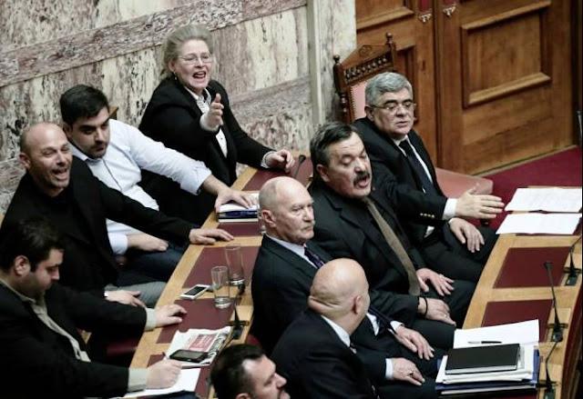 Δυναμική απάντηση των βουλευτών της Χρυσής Αυγής στις αντεθνικές προκλήσεις των Συριζαίων!