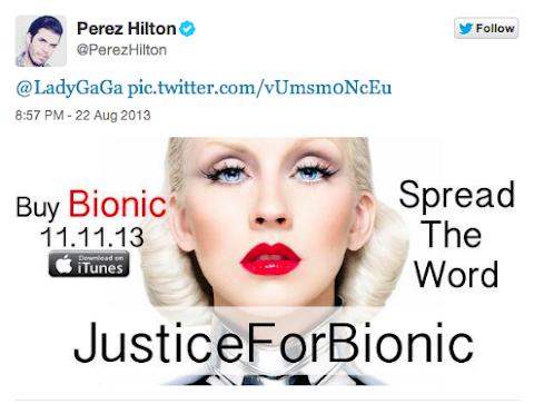 perez hilton contro lady gaga: l'11 novembre comprate bionic di christina