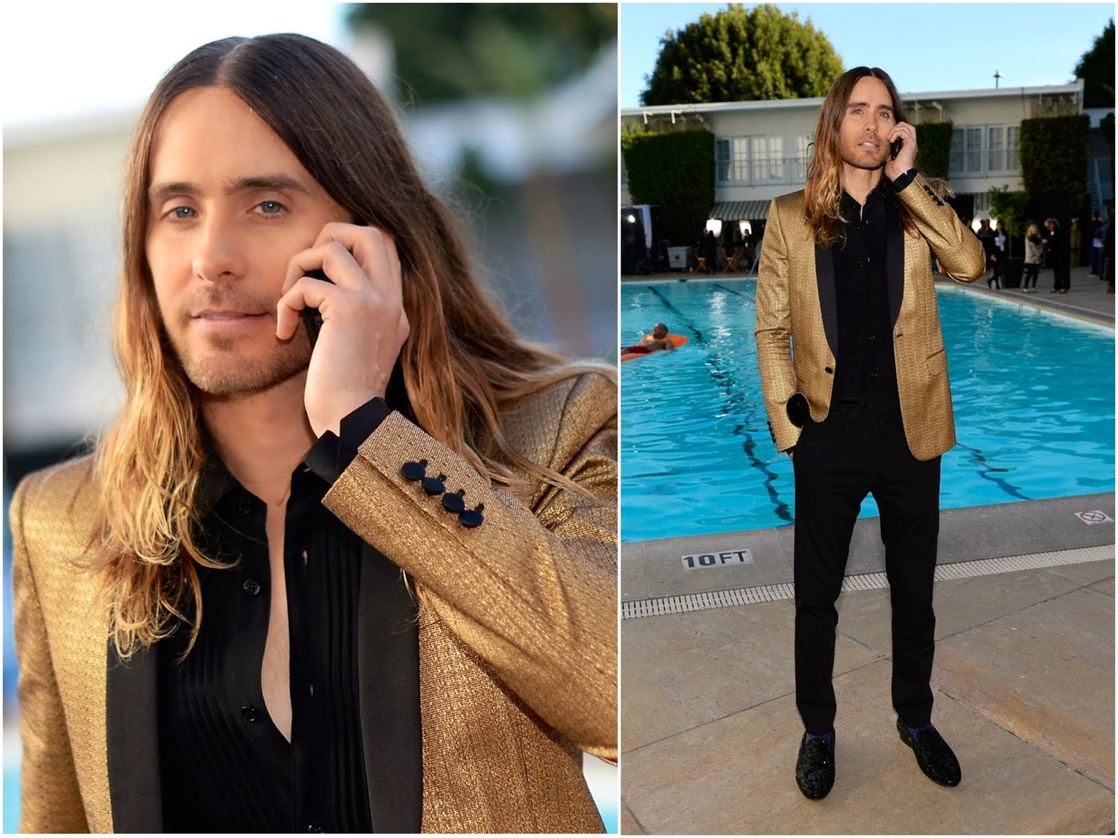Jared Leto in Saint Laurent - 86th Academy Awards Nominee Luncheon