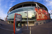 Arsenal FCthe Emirates Stadium through a fisheye lens (emirates stadium)