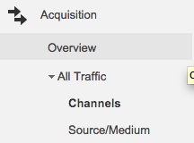 Google Analytics Acquisition Tab