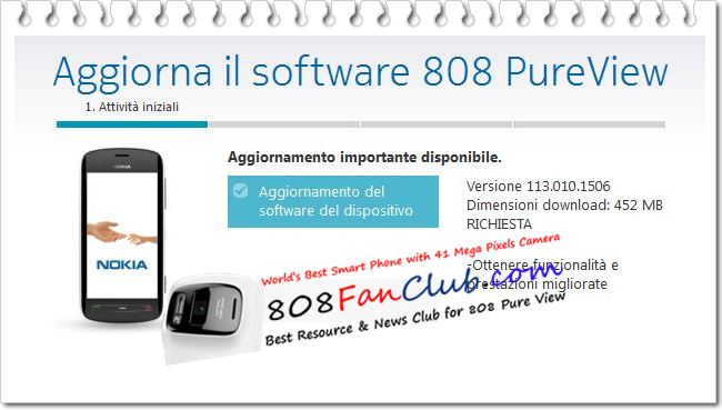 Official Nokia Belle FP2 Update v113.010.1506 for Nokia 808 PureView