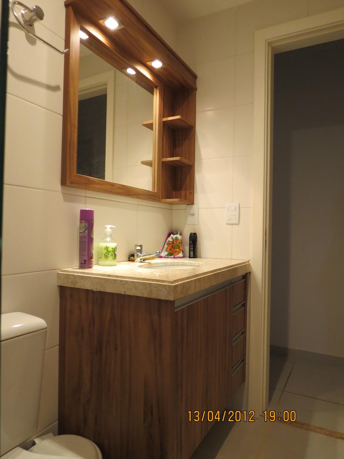 Marcenaria Arantes Armário de banheiro, mdf Amendola rustica -> Armario De Banheiro Mdf