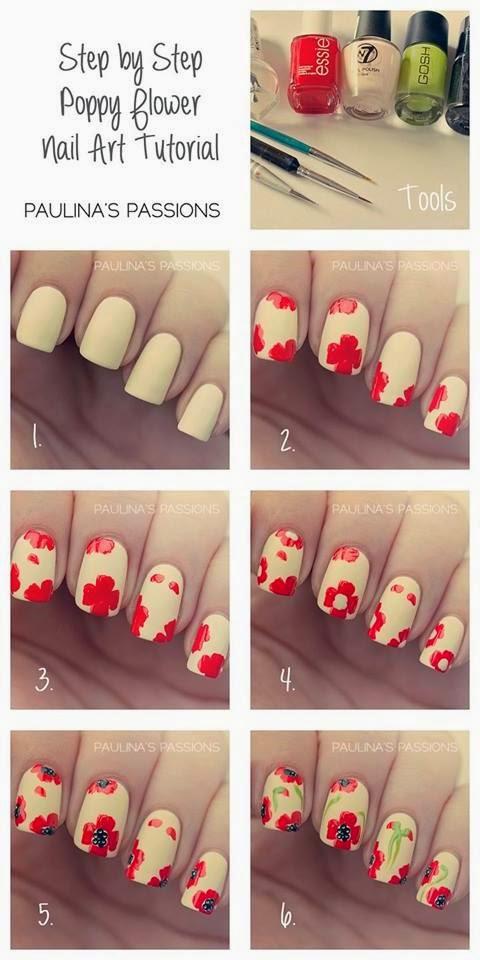 Как сделать цветок на ногти из лака