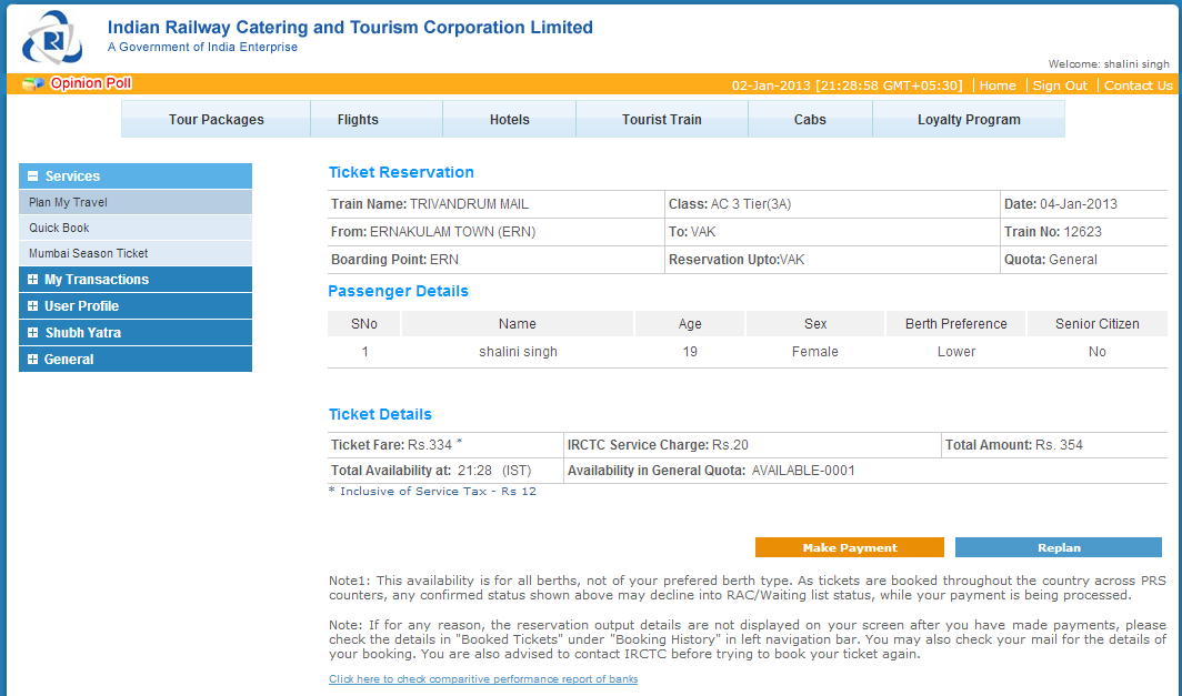 Train Ticket Booking How To Book Irctc Train Railway