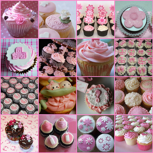 you can also try using bows to add that special look to your cupcakes