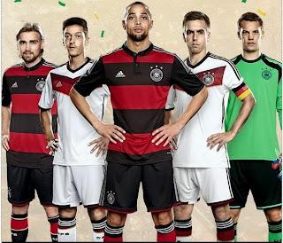Le maillot de l'Allemagne de la Coupe du monde 2014