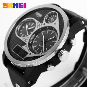 SKMEI Three Times Display Dual Time Zone Anti Air Waterproof, Rp.335 Rb Kode J155