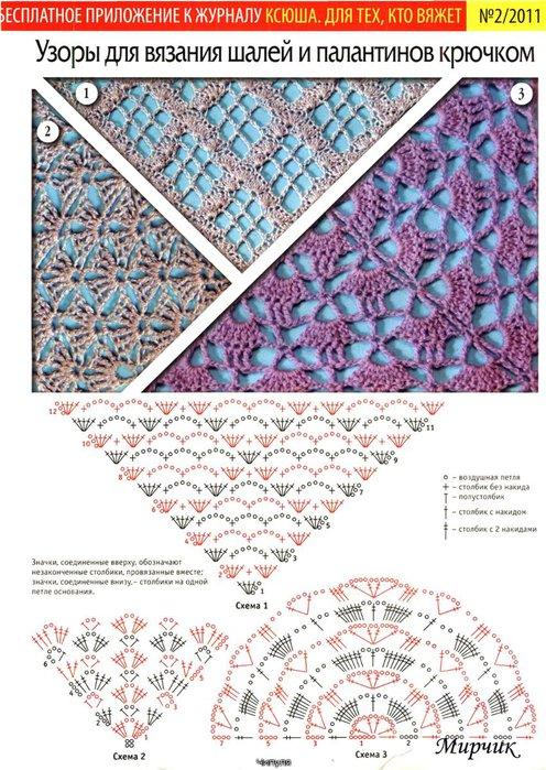 Вязание шали и косынки 151